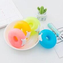 Невидимая лента резак лента с рисунками диспенсер Корея креативный портативный пончик держатель ленты канцелярские принадлежности с маленькой лентой внутри