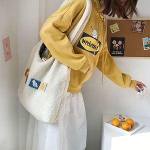 Image 5 - Bolsa Feminina Công Suất Lớn Túi Có Thể Gấp Lại Được Tái Sử Dụng Túi Đeo Vai Có Thể Tháo Rời Táo Tay Tote Nữ Casual