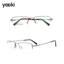 Half Rim Alloy Prescription Glasses Flexible Memory Titanium Legs Optical Myopia Prescription Eyeglasses Frame EJ023-9133(China)