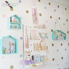 Виниловые наклейки на стены в горошек для детской комнаты, детские украшения для дома, детские наклейки на стены, детские наклейки на стену, детский домашний декор
