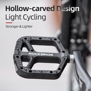 Image 4 - ROCKBROS Ultralight חותם מסבי אופניים אופני דוושות אופני ניילון כביש bmx Mtb דוושות שטוח פלטפורמת אופניים חלקי אביזרי