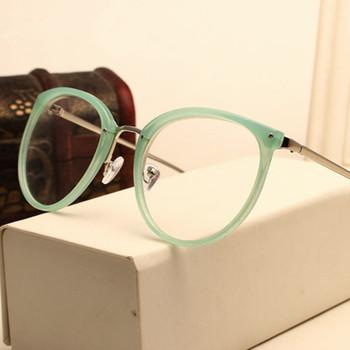 Klasyczne modne metalowe okrągłe przezroczyste optyczne okulary dla krótkowzrocznych przezroczystych plastikowych soczewek tanie i dobre opinie eastway WOMEN Z tworzywa sztucznego Stałe 0023 9 10