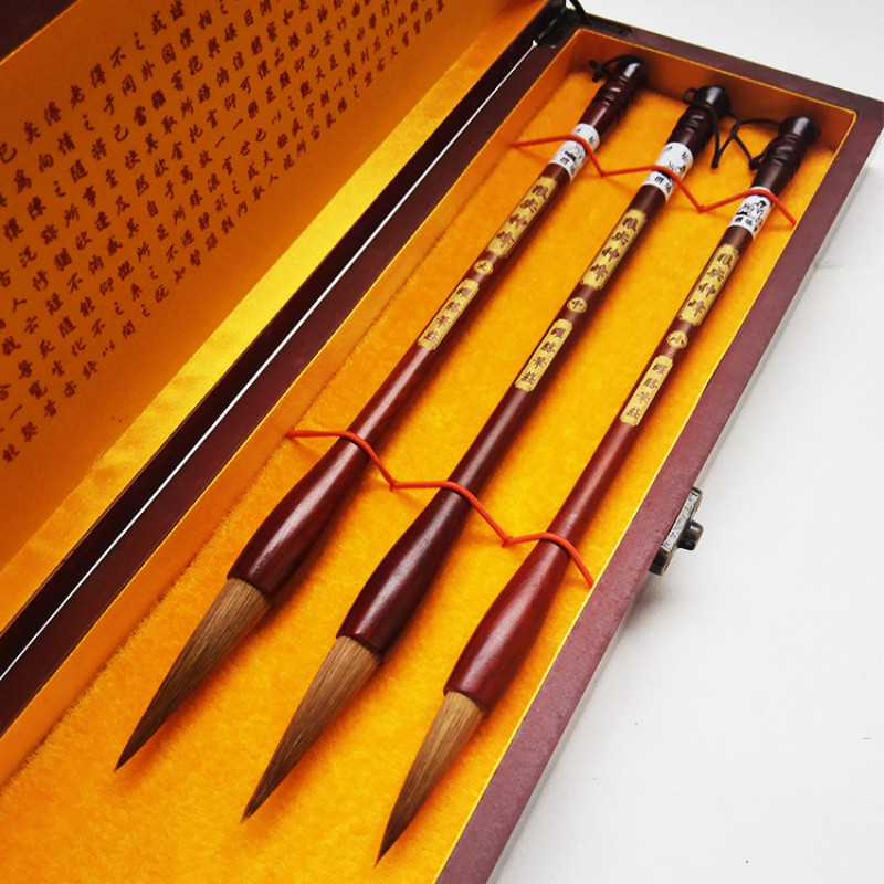 The Four Treasures Of Study Chinese Calligraphy Brushes Pen Set Painting Supply Art Set With Box Chinese Traditional Culture