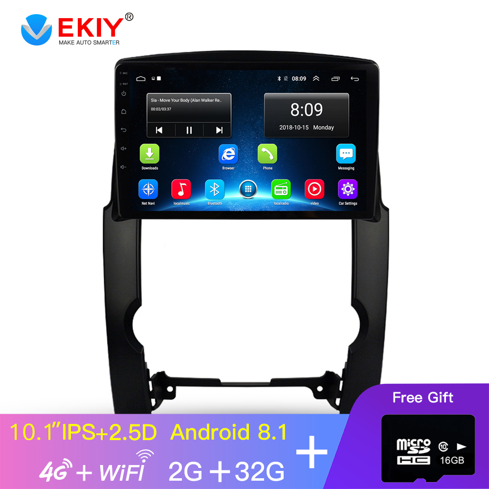 EKIY 10.1'' IPS Car Radio Multimedia Video Player Navigation GPS Android 8.1 For KIA Sorento 2 XM Sedan DVD 2009 2010 2011 2012 image