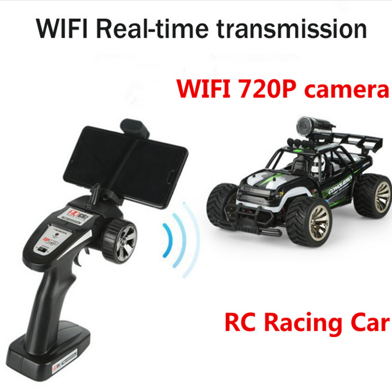 New WIFI Real-time Transmission 2.4G 4WD Remote Control RC Racing Car With WIFI 720P camera High Speed On Road Tourig Drift Car image