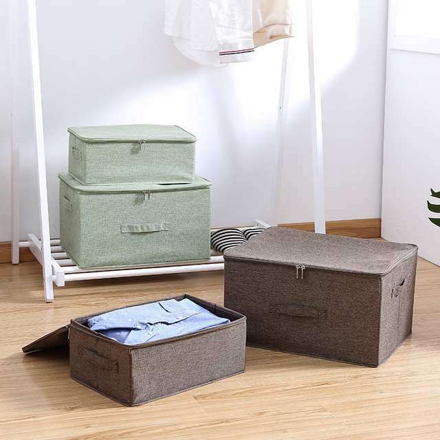 Boîte de rangement pour vêtements pliante | Boîte de rangement de soutien-gorge lavable avec Double fermeture éclair et poignée