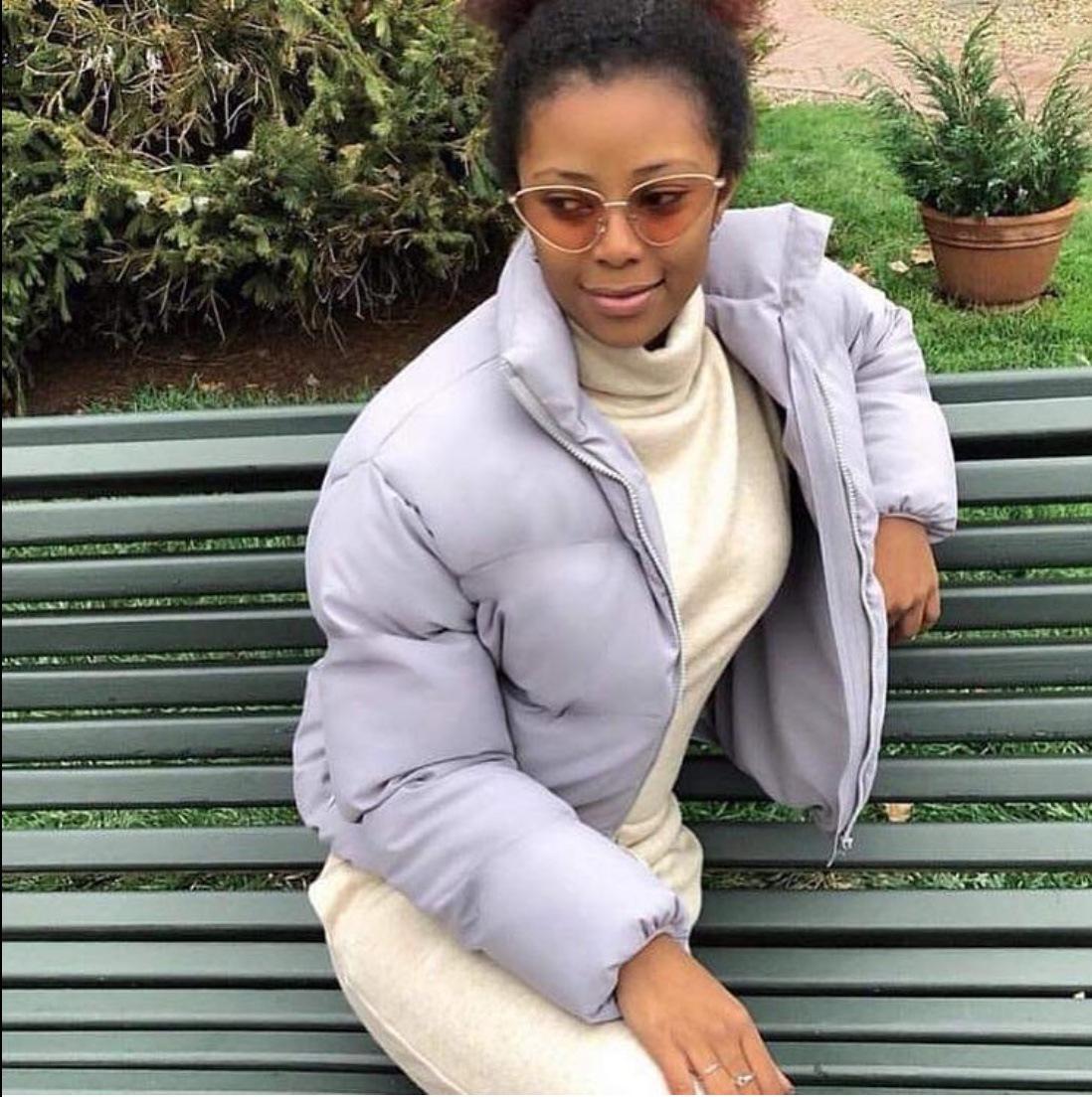 FORERUN Fashion Bubble Coat Solid Standard Collar Oversized Short Jacket Winter Autumn Female Puffer Jacket Parkas Mujer 19 9