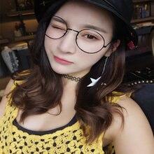 Новые очки в круглой оправе с оправой стиле ретро модные Харадзюку