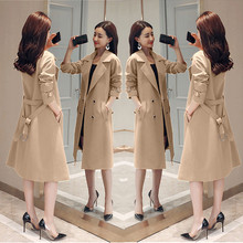 Spring Autumn Trench Coat Slim Single Breasted Tren
