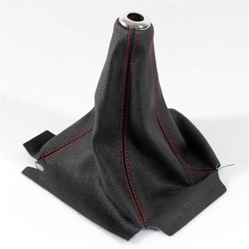 PU Leather Auto Gear Manual Shift Knob Lever Shifter Line Leather Gaiter Boot Cover