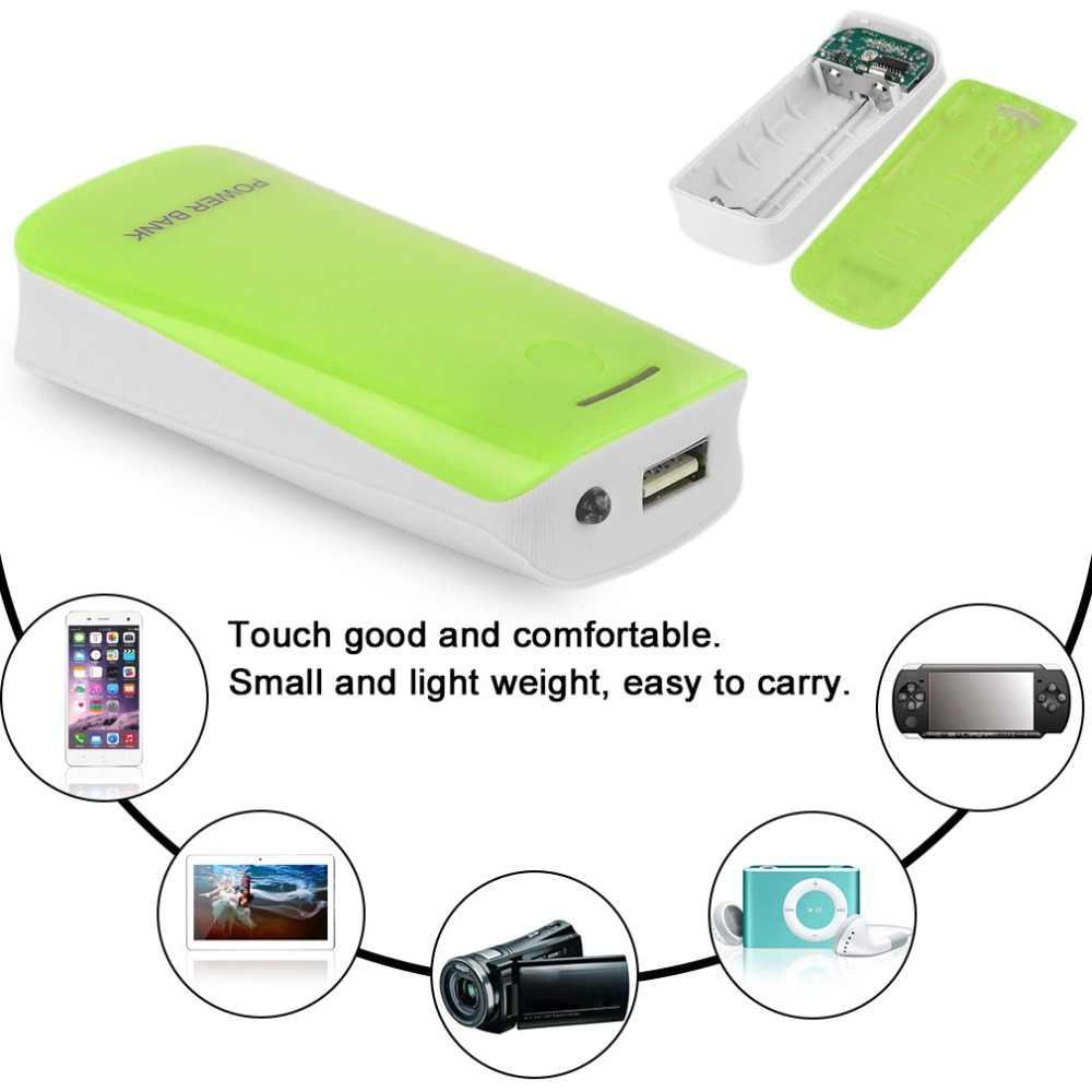 الإبداعية تصميم 5600mAh USB شحن المحمولة بطارية احتياطية خارجية شاحن 2*18650 البطارية علبة صندوق شحن