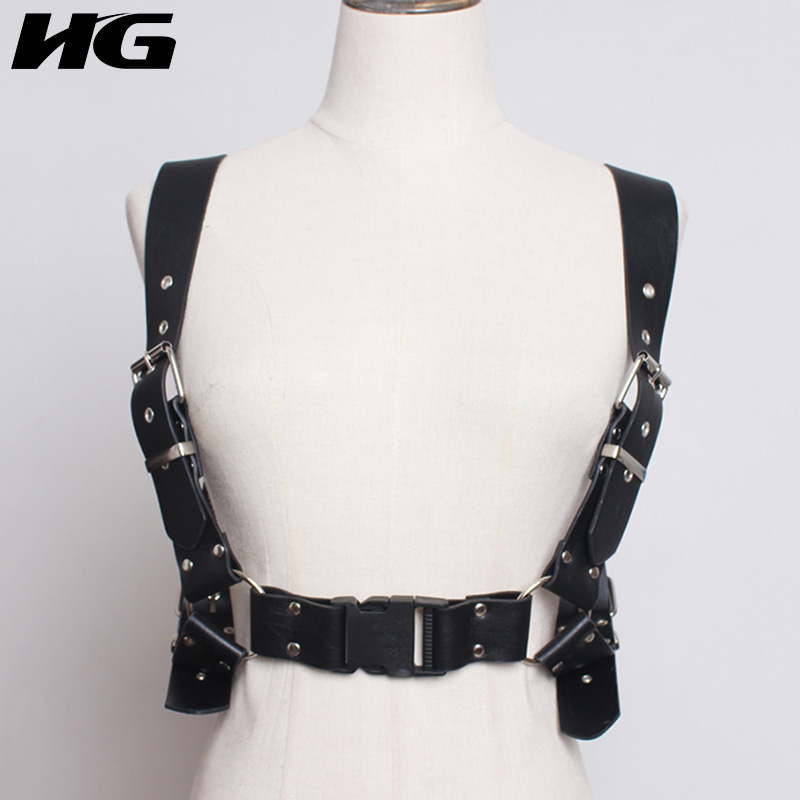 HG Black Cummerbund Women Strap Belt Fashion Personality Bondage Pu Leather Corsets 2019 New Autumn Waistband Female ZYQ1534