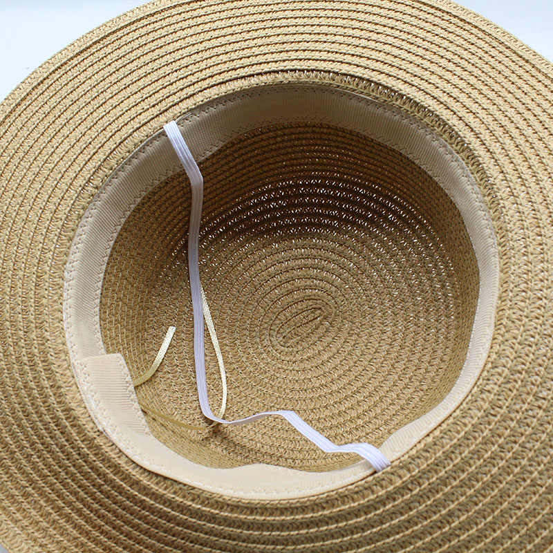 2020 핫 세일 패션 헵번 바람 솔리드 컬러 Bowknot 여름 태양 모자 아름다운 여성 밀짚 비치 모자 대형 Brimmed Hat