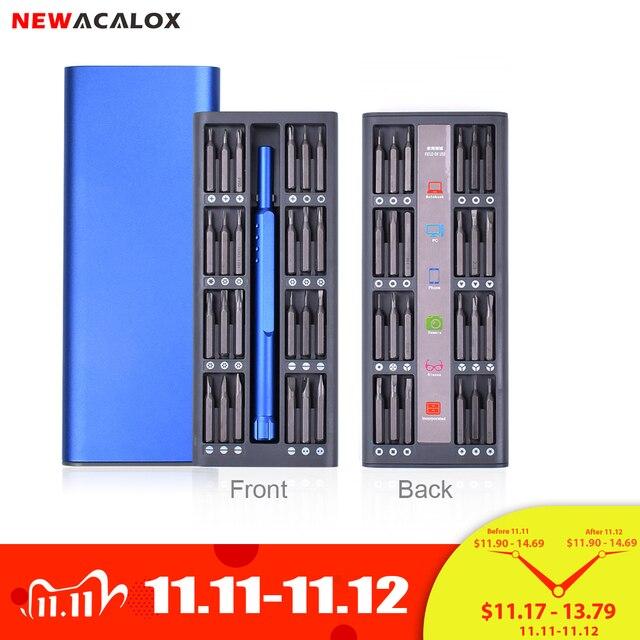 NEWACALOX tamir kiti 1 in 1 çok aracı manyetik tornavida seti hassas alet kiti tamir dizüstü telefon izle alaşım durumda