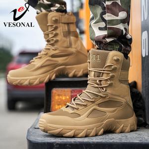 2020 autumn winter ankle Men's track military Boots Men Shoes Army work special forces Tactical Desert Combat outdoor Male