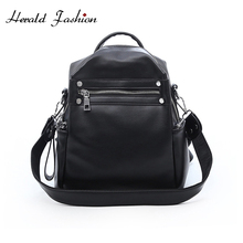 Herald Fashion Woman Backpack Leather Brands Female Backpacks High Quality Schoolbag Elegant Mochilas Escolar Feminina