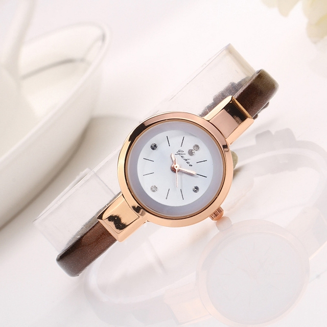Women Watches Luxury Rose Gold Silver Bracelet Wristwatch Ladies Alloy Simple Casual Quartz 6