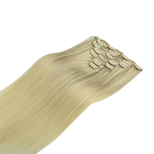 Hair-Extensions Human-Hair Honey-Blonde Clip-In Remy Straight Brown Natural-Black 120g
