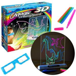 3D Magic Drawing Board With Pen Sketchpad Tablet Light Effects Puzzle Board Creative Kids Gifts LED Lights Glow Art Drawing Toys