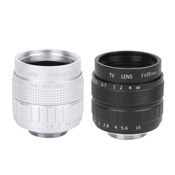Optical Glass 50mm F1.4 C Mount MC Multilayer Film Coating Manual Aperture Photography CCTV Camera Lens for Olympus M4/3