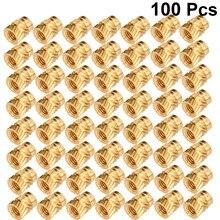 100 a linha m3 dos pces serrilhada bronze rosqueou a porca resistente ao calor do embedment da inserção do conjunto para a impressora 3d