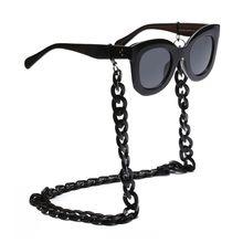 2Pcs Fashion Women Eyeglass Sunglasses Twist Link Acrylic Chain Holder Strap Necklace Eyewe