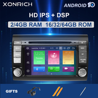 IPS DSP 2 Din Android 10 Car Multimedia player For Fiat/Bravo 2007 2008 2009 2010 2011 2012 Car Radio GPS Navigation DVD TV 4GB