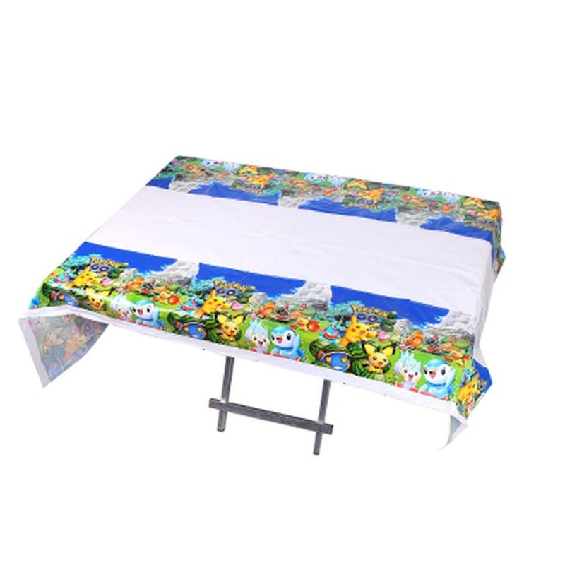 180*108 см одноразовые пластиковые прямоугольные водонепроницаемые скатерти с принтом Покемон вечерние детские украшения для дня рождения