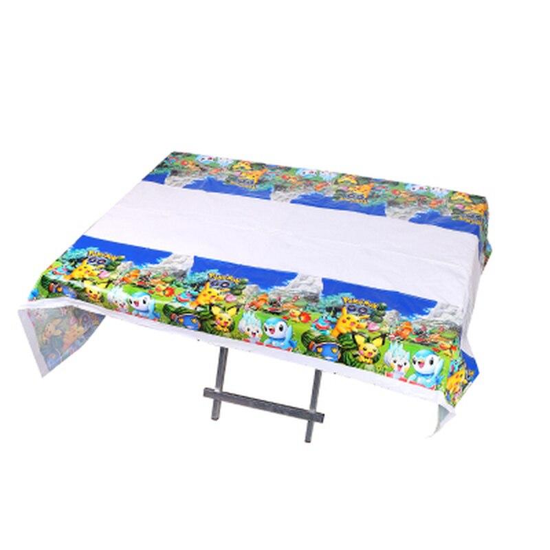 180*108cm pokemon descartável plástico impresso retangular impermeável toalha de mesa festa de aniversário decoração crianças suprimentos