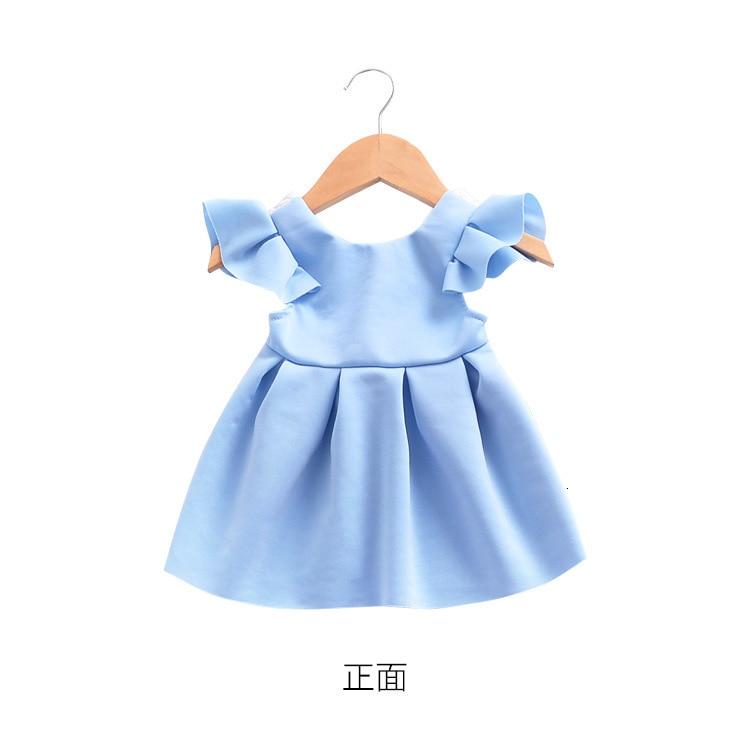 Hd07708b8925e44988099742900c7fe5e7 Girls Dress 2018 Summer Explosion Solid Color Denim Dress Cartoon Polka Dot Bow Cartoon Bunny Satchel Korean Baby Cute Dress