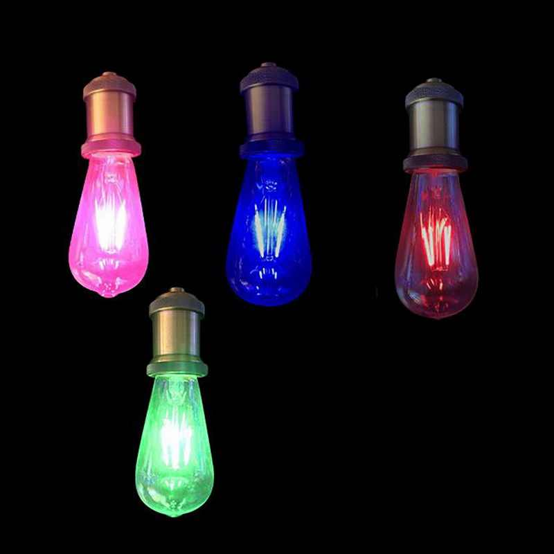 4W 6W E27 Lamps Edison Bulbs Red Blue Green Pink Lights Colorful Part Lamp Bulb LED Decorative Filament Bulb Dimmable