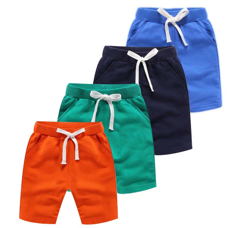 2020 Summer New Arrival Korean Style Children's Clothing Fashion Baby Boy Short Pants Pure Color Cotton Pockets Sports Shorts