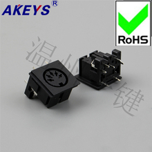 5PCS DS-5-02b Square S Large Terminal Connector 5-core 7-foot Socket 5PIN Needle DIN Base