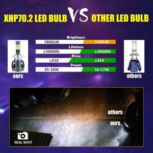 Image 5 - INLONG XHP70.2 H7 Led Lampada Canbus H4 자동차 LED 전조등 전구 H1 H8 H11 Led 램프 9005 HB3 9006 HB4 전조등 자동 안개등 12V