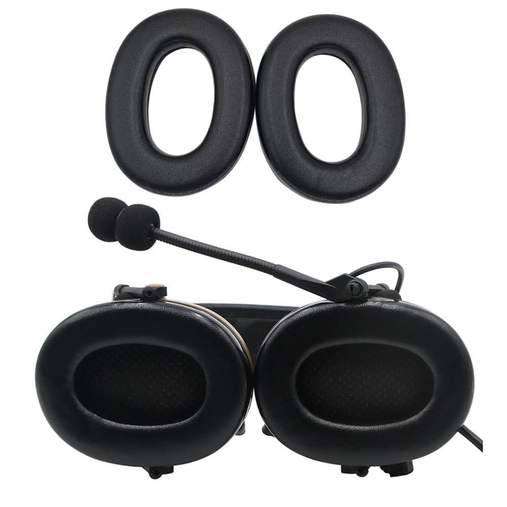 Купить с кэшбэком Tactical Headphones Earmuffs Fit Peltor Comtac  Series Comtac I II III Headset Sponge Replacement Ear Cushion