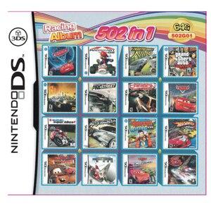 Гоночный альбом 502 игры в 1 NDS игровой пакет карта Супер комбинированный картридж для Nintendo NDS DS 2DS New 3DS