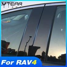 Vtear dla Toyota RAV4 2019 2020 2021 akcesoria BC kolumna okno samochodu naklejki wykończenia lustro odbicie panelu modyfikacji zewnętrznej