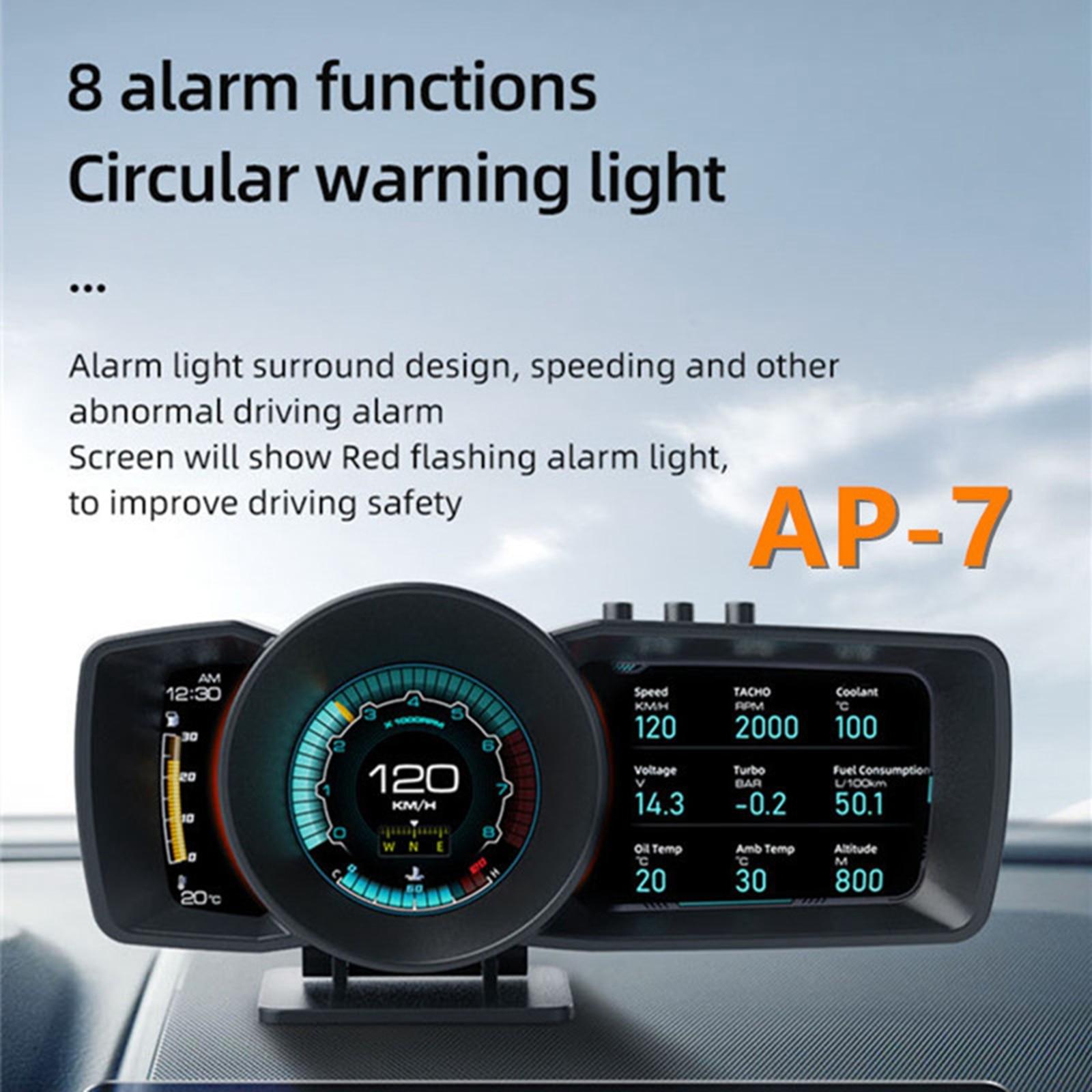 Автомобильный дисплей на лобовое стекло A600 3,5 дюйма, 3,5 дюйма, HUD OBD II GPS, двигатель с оборотом в минуту, напряжение охлаждающей жидкости, турбо ...