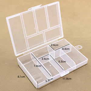 Plastix-Box Component-Parts Toolbox Hardware Transparent Small Container Jewelry/Tools