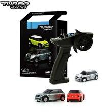 Turbo Racing 1:76 RC автомобиль мини Полный пропорциональный Электрический гоночный машина RTR комплект 2,4 ГГц гоночный опыт автомобиля для детей под...