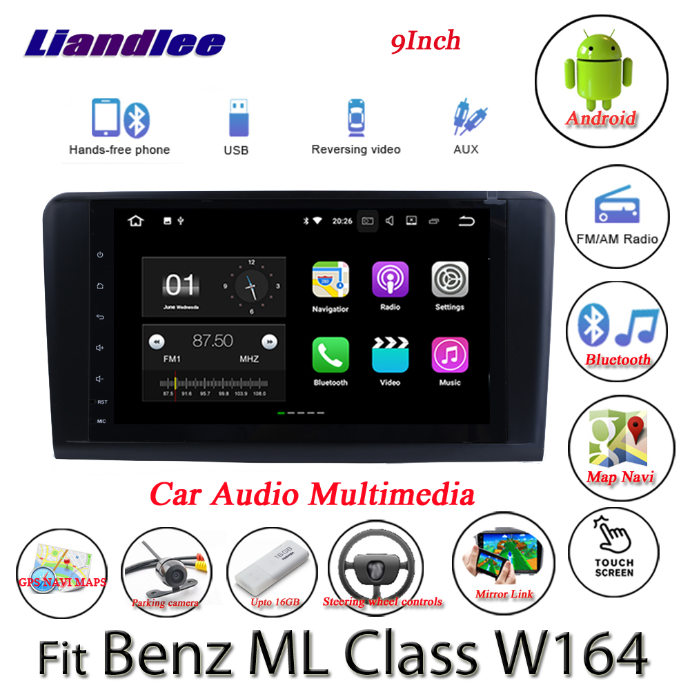 Liandlee Android System For <font><b>Mercedes</b></font> Benz <font><b>ML</b></font> Class <font><b>W164</b></font> ML300 ML350 <font><b>Radio</b></font> GPS Nav MAP Navigation BT HD Screen Multimedia NO DVD image
