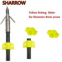 100 шт., слайдер для рыбалки с бантом, желтый диаметр 8 мм, слайдер безопасности для рыбалки с бантом, для стрел из стекловолокна, аксессуары дл...