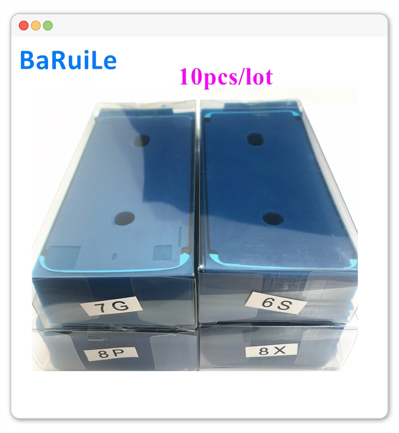 BaRuiLe 10pcs Waterproof Sticker for iPhone 6S 7 8 Plus X 8P XS Max XR 3M Adhesive Pre-Cut LCD display Frame Tape Repair Parts(China)