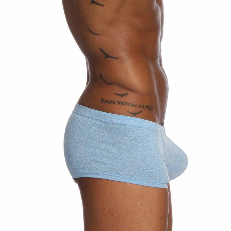 Mens Cotton Boxers Shorts Breathable Underwear Sexy Low Waist Big U Convex Underpants Ultra Soft Comfort Boxer Man Brand Panties