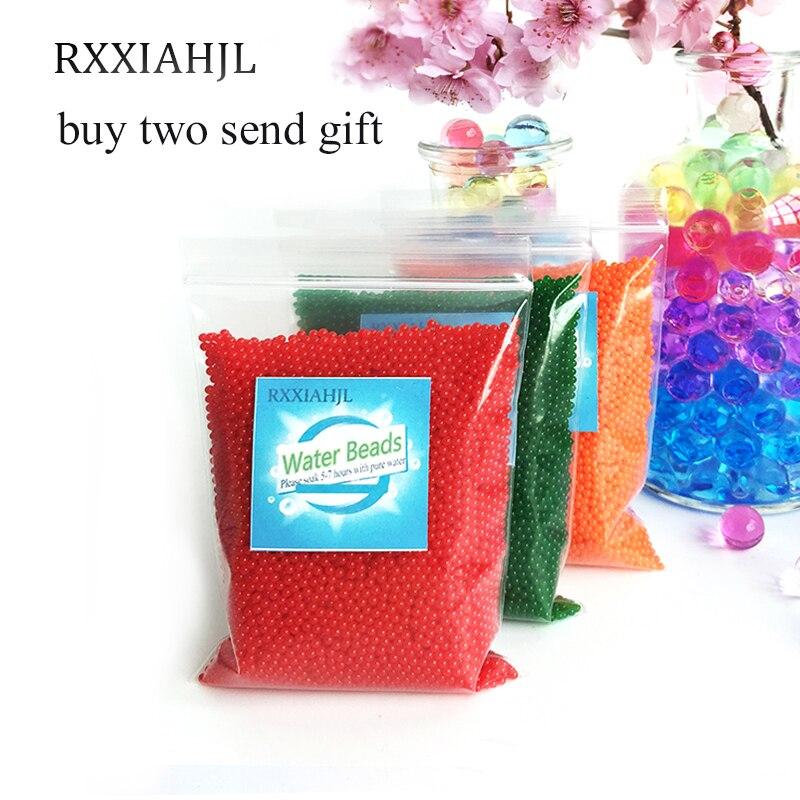10000 PCS/Bag Crystal Soil Water Beads Hydrogel Balls Orbiz Growing Gel Ball Big Decorative Flower Wedding Home Decor