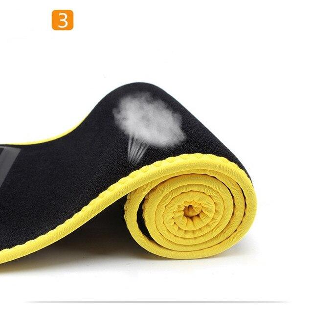 TJ-Tianjun  New Workout Sweat Belt For Waist Protection yoga Embossing Belt For Fltness Shaping Belt YX8708 5