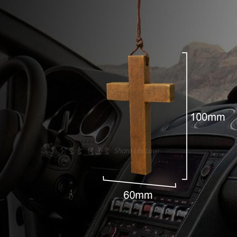 Elegant Gift Car Hanging Cross Solid Wood Handmade Christian Jesus Simple Cross Ornaments Cruces Wall Crosses Christ Cross Wall