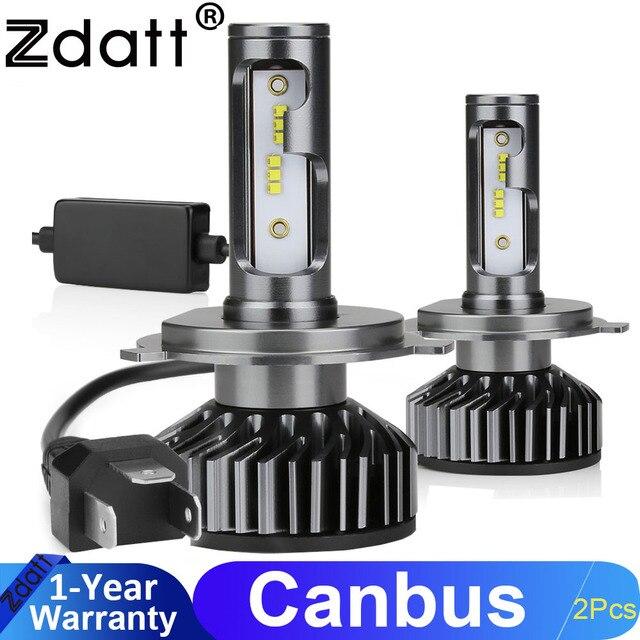 Zdatt H7 LED H4 H1 H11 9005 9006 자동차 헤드 라이트 전구 12000LM 6000K 12V 차량 자동차 안개 조명 HB3 HB4 램프 터보 팬