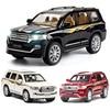 1:24 1:32 TOYOTA LAND CRUISER SUV Modelo de Carro Liga Die Cast Carros De Luxo Clássicos Favoritos Presente Crianças Brinquedos Carros Frete Grátis