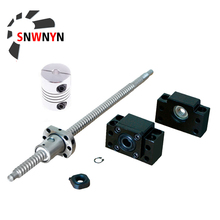 SFU1605 Rolled Ball Screw C7 With End Machined 250 300 350 400 450 500 600 700 900 1000mm+BK12 BF12 Support + Coupler RM1605 Set